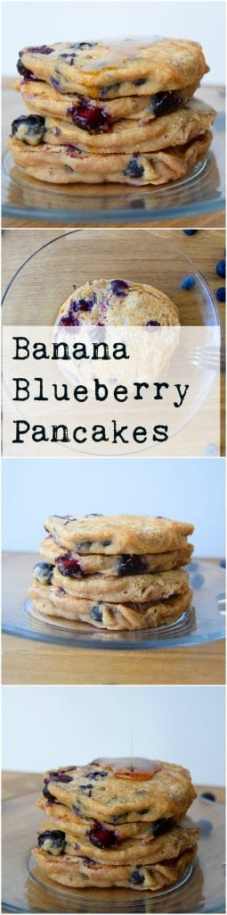 banana-blueberry-pancakes