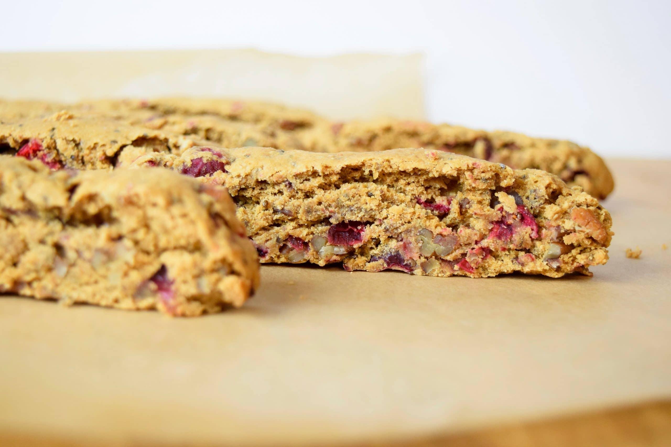 Pecan-Cranberry Biscotti Recipe — Dishmaps
