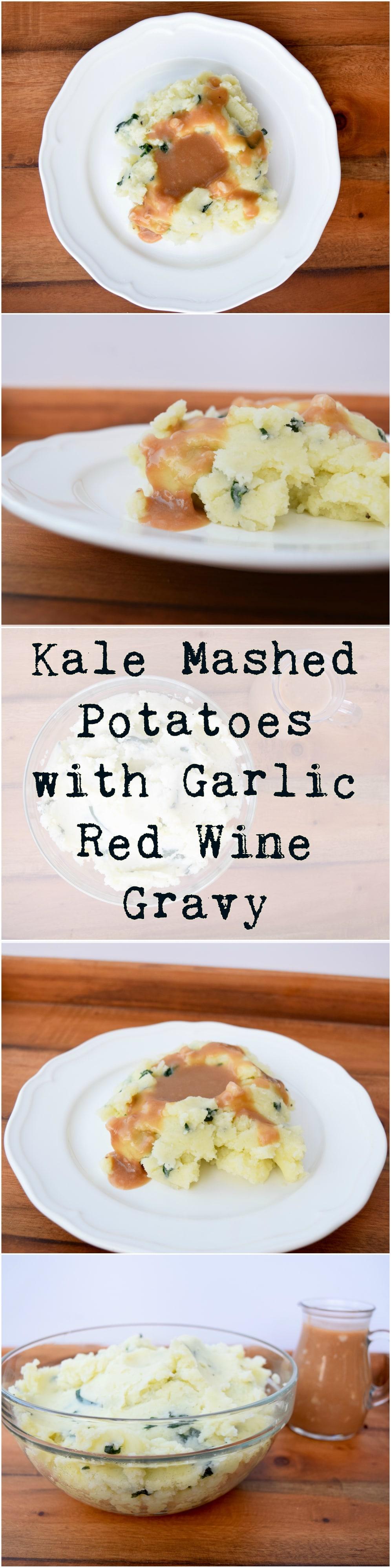 Kale Potatoes Red Wine Gravy