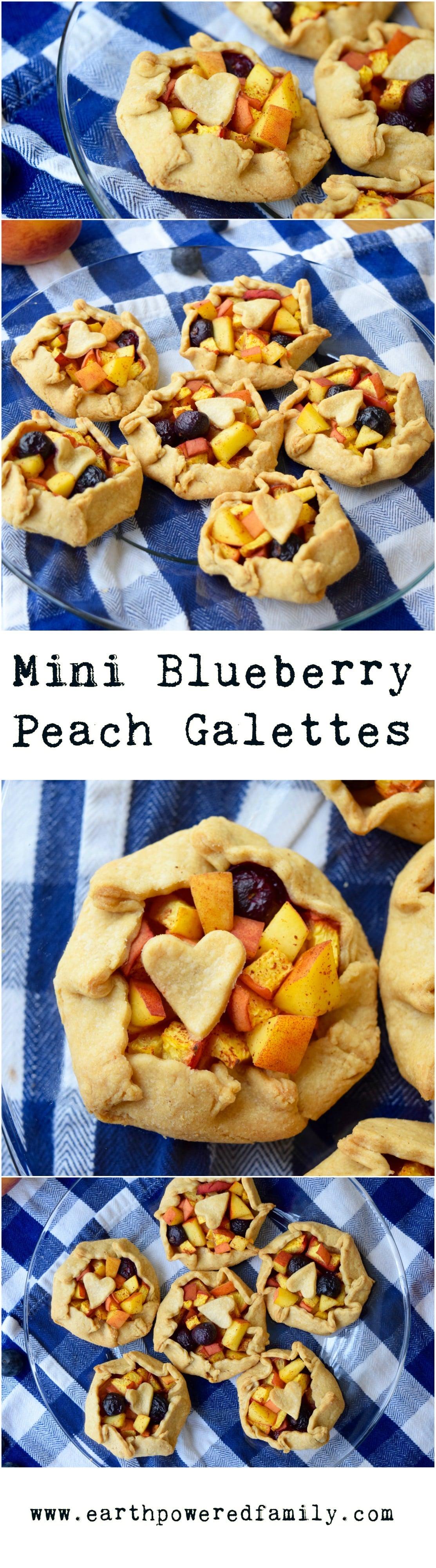 Mini Blueberry Peach Galettes
